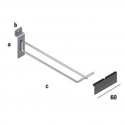 Obešalna kljukica enojna s tablico za ceno, TIP WA61P, dimenzije izberete v meniju