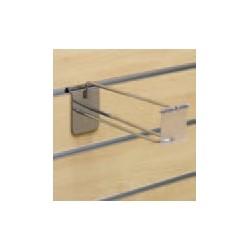 Obešalna kljukica dvojna, 200mm, z držalom tablice za ceno, TIP 475