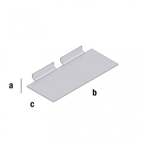 Pleksi prozorna polica 100x250mm, TIP WA103