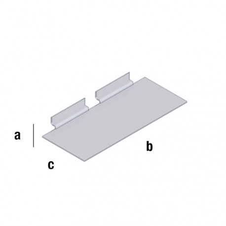 Pleksi prozorna polica 150x300mm, TIP WA104
