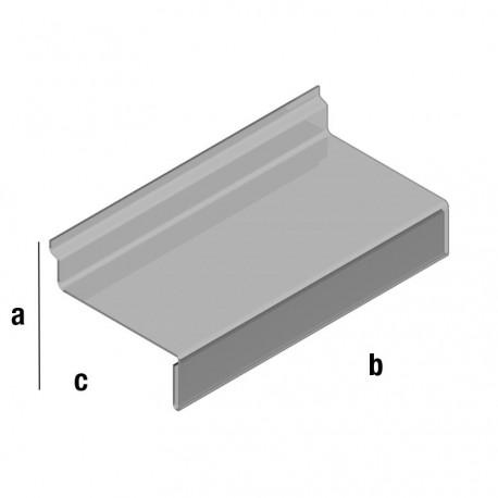 Plastična prozorna polica 100x250mm, z zavihkom za ceno, TIP WA105