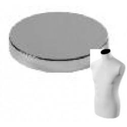 Pokrovček za torzo, kovinski, kromiran, fi 104mm