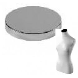 Pokrovček za torzo, kovinski, kromiran, fi 91,5mm