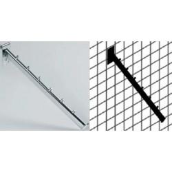 Poševna roka za na mrežo, L:360 mm, krom