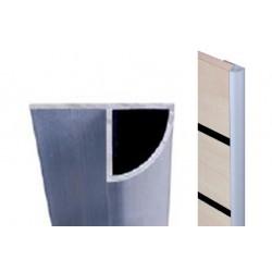 Stranski polkrožni alu profil za stenske panele,240cm