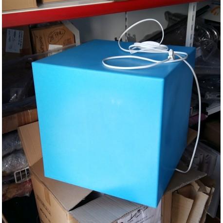 Izložbena kocka z osvetlitvijo, modra